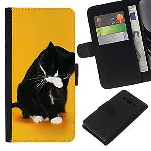 Stuss Case / Funda Carcasa PU de Cuero - Divertido Lol Cat Wtf - Samsung Galaxy A3
