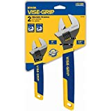IRWIN VISE-GRIP Tools Adjustable Pipe Wrench Set, 2-Piece (6 Inch and 10 Inch) (2078700)