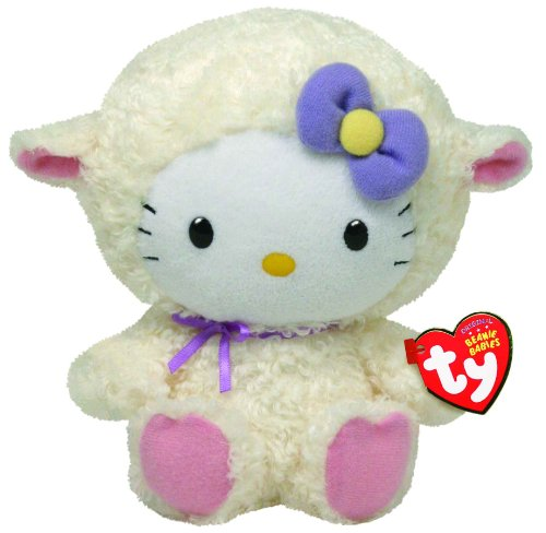 Hello Kitty - Lamb Suit Plush - TY Beanie - 20cm 8""