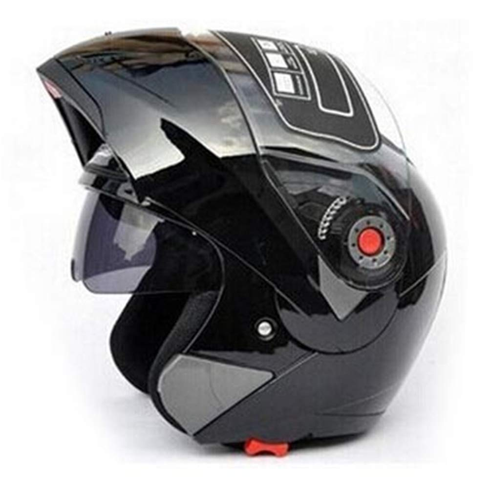Qianliuk Cascos de Moto Adultos abatibles Doble Viseras Casco Racing Casco de Moto Full Face