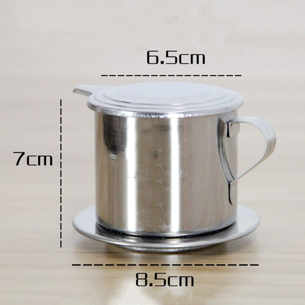 LTLWHS Kaffeefilter Edelstahl-Tropffilterbecher 200 Ml Mit Filterpapier