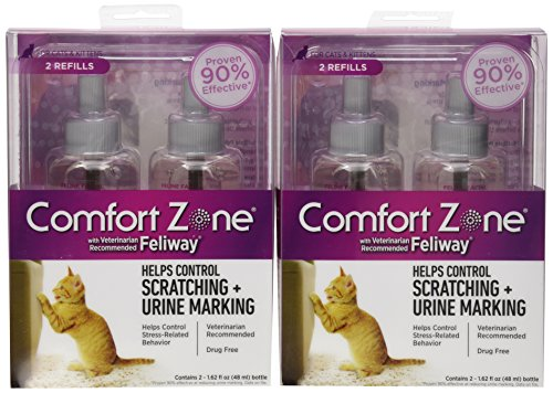 Comfort Zone with Feliway 12-Pack Cat Diffuser Refills Vials, 48ml