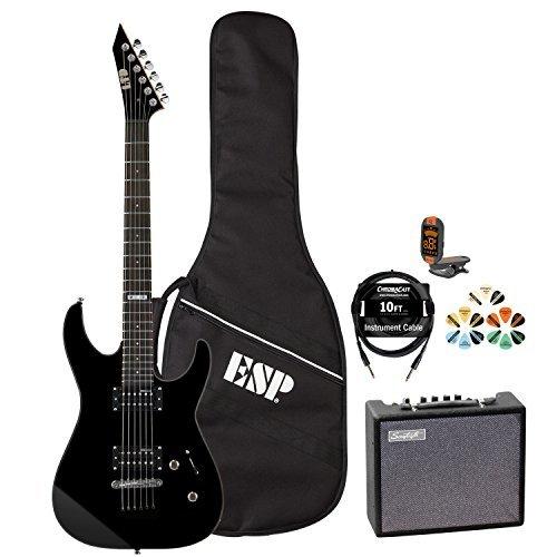 ESP-M-JB-M10KIT-BLK-KIT-5-Electric-Guitar-with-Tuner-Picks-ESP-Gig-Bag-Cable-and-Guitar-Amp-Black