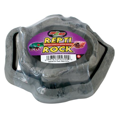 - Zoo Med Combo Reptile Rock Food and Water Dish, Small, Assorted Colors