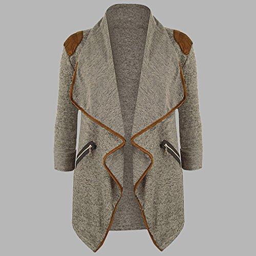 Manches Tricot Outwears Dcontract Kaki Grande Longues Tops Taille Veste Manteau AIMEE7 Femmes Cardigan qgUOn5t8