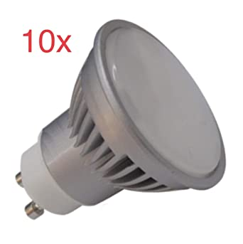 Led Atomant Pack 10x GU10 7W Halogeno LED 680 lumenes Reale, 7 W, Blanco