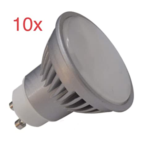 (LA) 10x GU10 LED 7W Potentisima! Blanco neutro (4500k). Halogeno