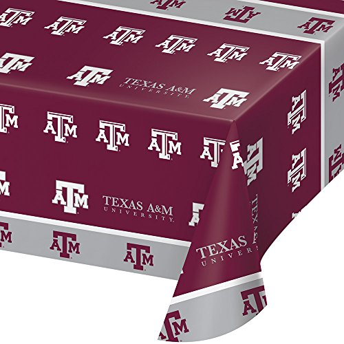 2-ct Texas A&M University Premium Plastic Table Covers College Football Party
