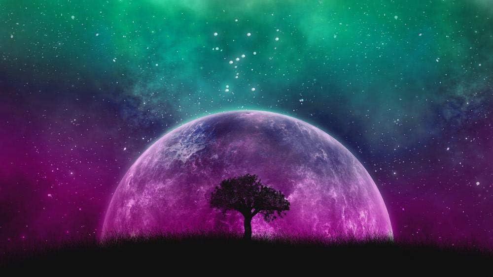 HQHff Galaxia Luna Orion Planeta Espacial,Puzzles Adultos 1000 Piezas 75x50cm,3D Puzzles de Madera Adultos Regalo de Juguete Educativo para niños