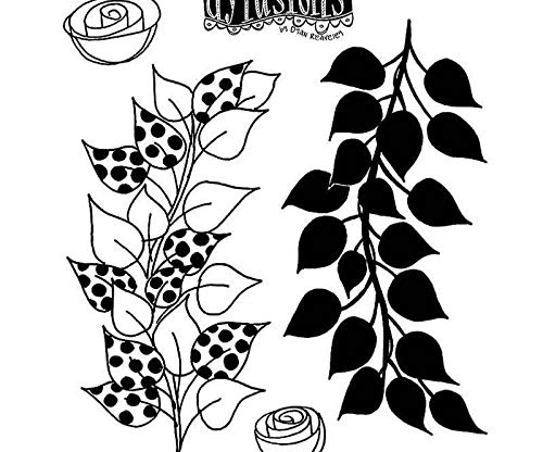Petals and Petals - Rubber Cling Dylusions (4ks), Ranger, Scrapbooking Paper Stamps