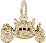 Rembrandt Royal Carriage Charm - Metal - 14K Yellow Gold