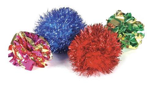 Knight Pet Mylar and Glitter Ball Toy, 2-Piece, My Pet Supplies