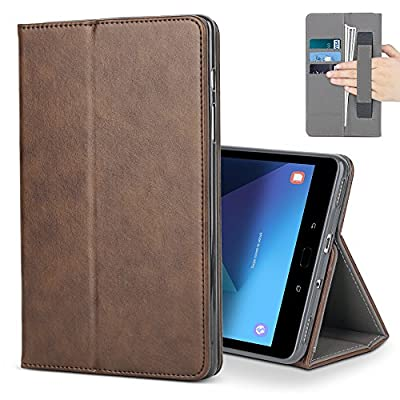 Samsung Galaxy Tab S3 9.7 Case,B BELK Premium Leather Multiple Viewing Stand Cover with Hand Strap, Auto Wake/Sleep Smart Folio Flip Card Holder for Samsung Galaxy Tab S3 SM-T820 T825