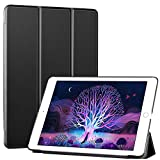 Ztotop iPad 9.7 Case 2018 iPad 6th Generation Case / 2017 iPad 5th Generation Case,Smart Ultra Slim Lightweight Trifold Stand Cover with Hard Back for ipad 9.7 Black
