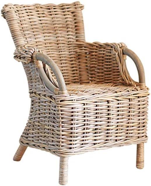 QQXX Silla de Mimbre Muebles de jardín al Aire Libre, Patio con balcón de Efecto Invernadero, Mesa de café, balcón al Aire libreSilla de salón Muebles para el hogar (tamaño: B 46x47x65cm):