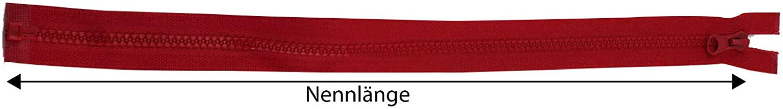 K4BUY Rei/ßverschluss 5mm grob teilbar Kunststoff 40 45 50 55 60 65 70 75 80 90 cm Neu Farbauswahl Petrol, 55