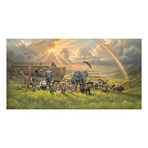 Noah's Ark Fabric (Elizabeth's Studio Noah's Ark 24in Panel Multi)