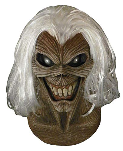 Costume Stores In Salt Lake City (Loftus Trick Or Treat Studios Iron Maiden Killers Full Head Mask, Grey White,)