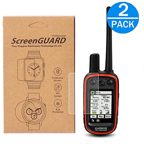 [2-Pack] for Garmin Alpha 100 GPS Screen Protector,Full Coverage HD Clear Anti-Bubble and Anti-Scratch