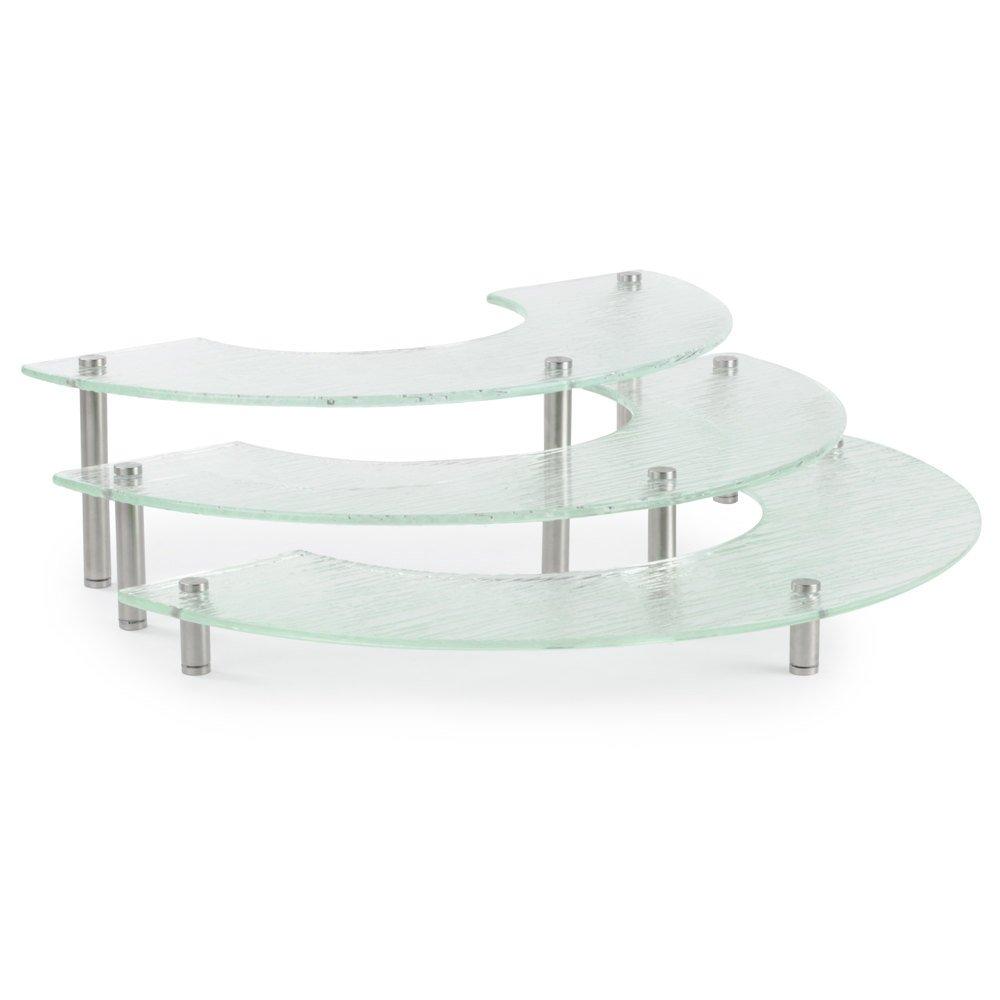 TableCraft Products A11 3 Piece Riser Set, Half Moon, 2'' x 4'' x 6'' Height