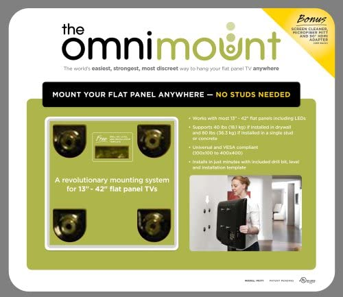 OMNIMOUNT PKIT1 The OmniMount Home Theater Kit for 13-Inch 42-Inch Flat Panel TVs Discontinued by Manufacturer