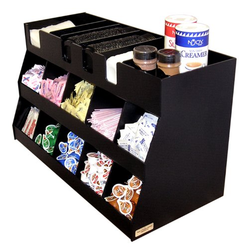 Large Office Coffee Organizer. 27'' W x 12 3/4'' D x 16'' High. Top Shelf Adds Storage For Lids, Canisters, Etc. Proudly Made in the USA by PPM by Plastic & Products Marketing PPM (Image #2)