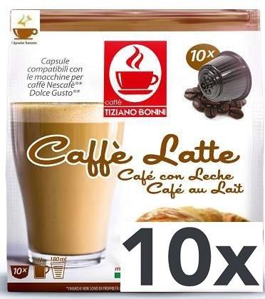 Cápsulas Compatibles Dolce Gusto Bonini Café con Leche 100 ud: Amazon.es: Alimentación y bebidas
