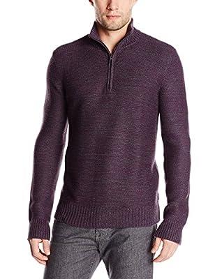 Calvin Klein Men's Cotton Acrylic 1/4 Zip Sweater