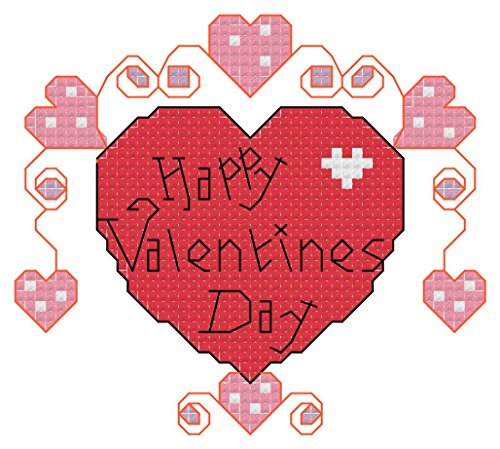 - Valentines Day Heart Cross Stitch Pattern: Whole and Half cross stitch and backstitch used