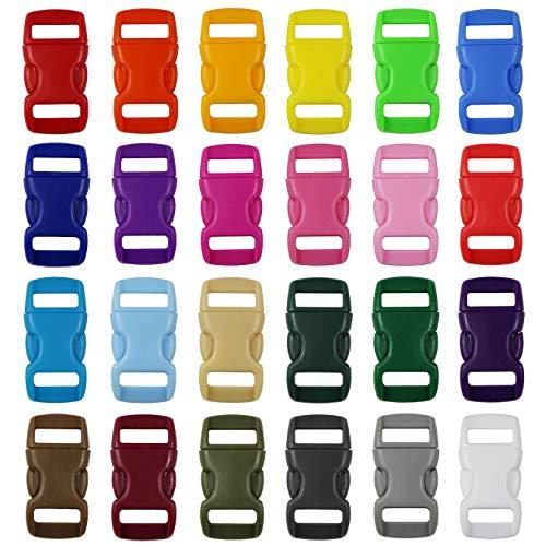 aufodara 24st kliksluiting kunststof gespen zijdelingse vrijgave-plastic minigespen 3/8″ steeksluiting voor Paracord armbanden, hondenhalsband, rugzak, sleutelhanger
