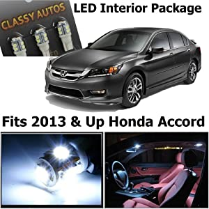 classy autos honda accord white interior led package 6 pieces automotive. Black Bedroom Furniture Sets. Home Design Ideas