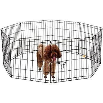 ollieroo dogcat exercise playpen cage 8 panels black