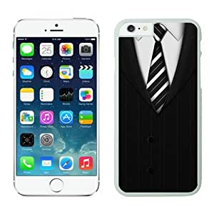 Iphone 6 Plus Case 5.5 Inches, Cool Suit and Tie White Phone Protective Cover Case for Apple Iphone 6 Plus