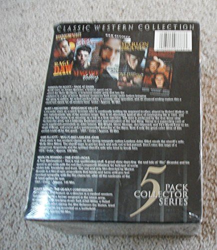Classic Western Collection: Molly and Lawless John, Rage at Dawn, Vengeance Valley, One-Eyed Jacks, The Deadly Companions [VHS]