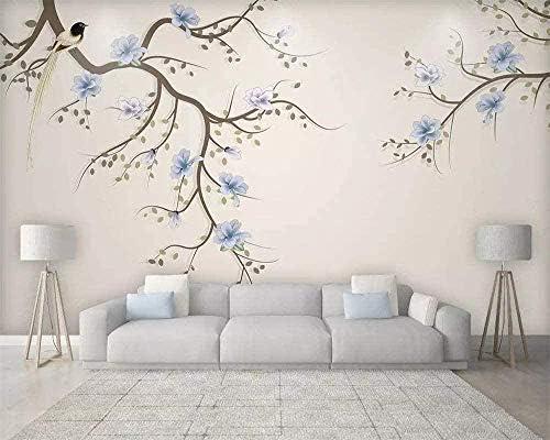Hxcok ファッションカスタム壁紙パーソナリティモダンミニマリスト壁紙美しい北欧の花エレガントな壁画テレビ背景壁紙-260X160cm