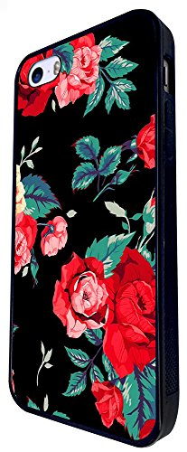 1433 - Cool Fun Trendy Cute Shabby Chic Flowers Roses Daisy Flora (9) Design iphone SE - 2016 Coque Fashion Trend Case Coque Protection Cover plastique et métal - Noir