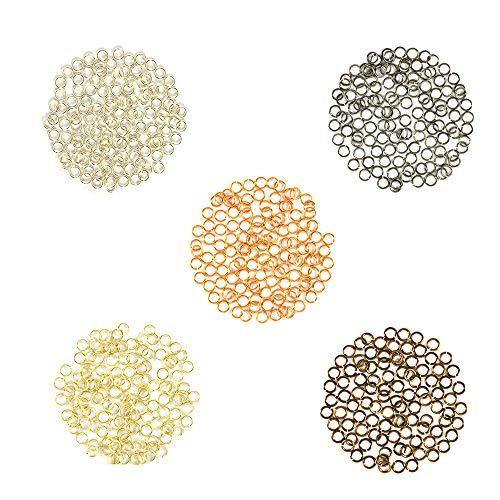 Metal Mix w/Silver - Enameled Copper Jump Rings - 22 Gauge - 3.0mm ID - 500 Rings - Silver, Bronze, Hematite, Vintage Bronze, Gold