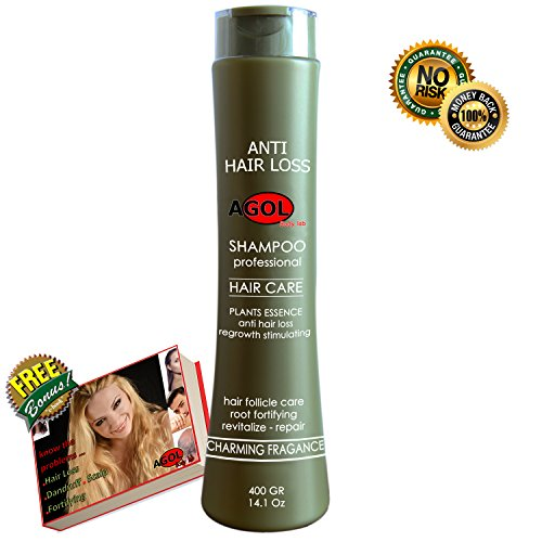 NEW Anti Hair Loss Shampoo Organic Regrowth Stimulating DTH Remover Professional from Natural Plant Extracts & Balanced pH Fortifying and Decrease of Dandruff & Scalp Problems for woman & men 14.1 Oz