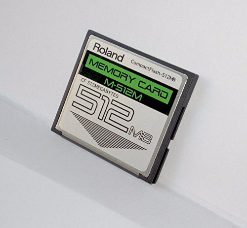 512MB Roland M-512M CompactFlash CF Memory Card Upgrade for SPD-S, SP-404, SP-555, SP-606, MC-808, and Others