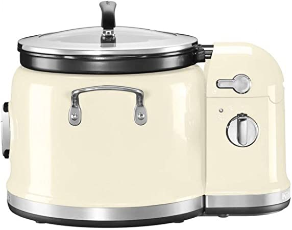 KitchenAid 5KMC4244 olla multi-cocción 4,25 L 700 W Crema de color - Ollas multi-cocción (4,25 L, 700 W, Crema de color, Acero inoxidable, LCD, 220-240 V): Amazon.es: Hogar