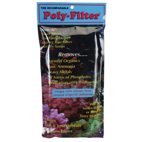 Poly-Bio-Marine, Poly Filter, Fish Aquarium Filter Media Pad, 3-pack, 4'' x 8'' by Poly Filter