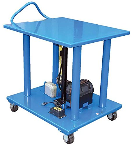 Stainless Steel Work Table - DC Battery - BHT-DC Series; Platform Size (W x L): 32'' x 48''; Capacity (LBS): 4,000; Service Range: 54'' to 36''; Number of Posts: 4; Caster Type: 4'' X 2'' Phenolic