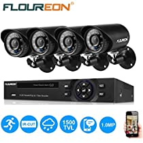 4CH 1080N HDMI DVR HD 1500TVL Outdoor CCTV IR Night Home Security Camera System