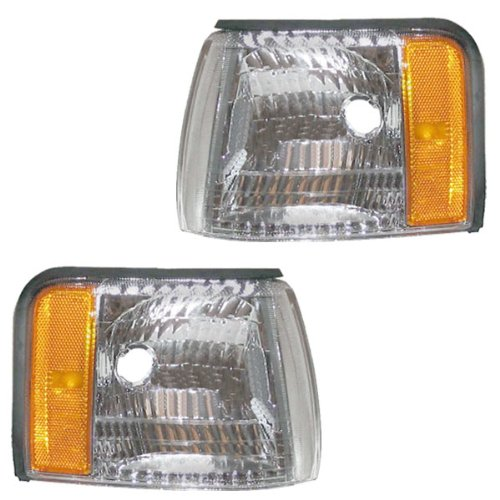 Cadillac Deville Side Marker Corner - 1997-1998-1999 Cadillac Concours & DeVille Corner Park Light Turn Signal Marker Lamp Pair Set Right Passenger AND Left Driver Side (97 98 99)