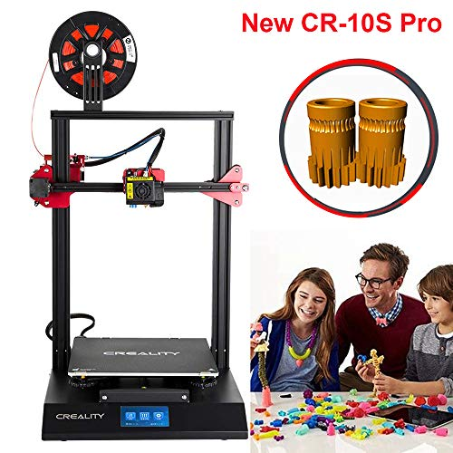 Creality CR-10S Pro New Upgraded Auto-Level, Touch Screen, Capricorn PTFE and Dual Bondtech Extruder Gears, Brand Power Supply, Printing Size 300x300x400 mm