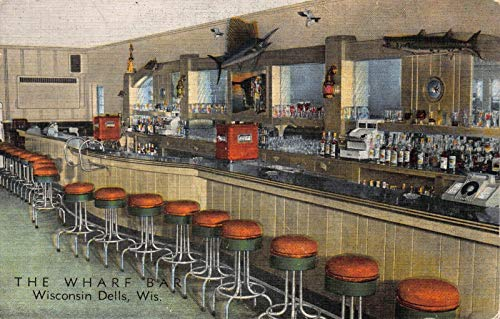 - Linen Postcard The Wharf Bar in Wisconsin Dells, Wisconsin~122319