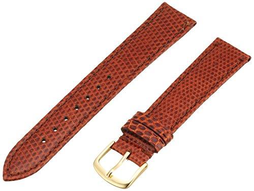 Hadley-Roma Men's MSM715RR-180 18-mm Tan Genuine Java Lizard Leather Watch Strap