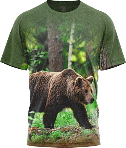 TrailCrest Men Women's Graphic T Shirts Short-Sleeve Black Bear Print T-Shirt Wildkind Black Bear Print T-shirt