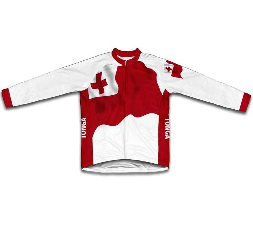 ScudoPro Tonga Bandera Maillot de Ciclismo Marga Larga para Hombre