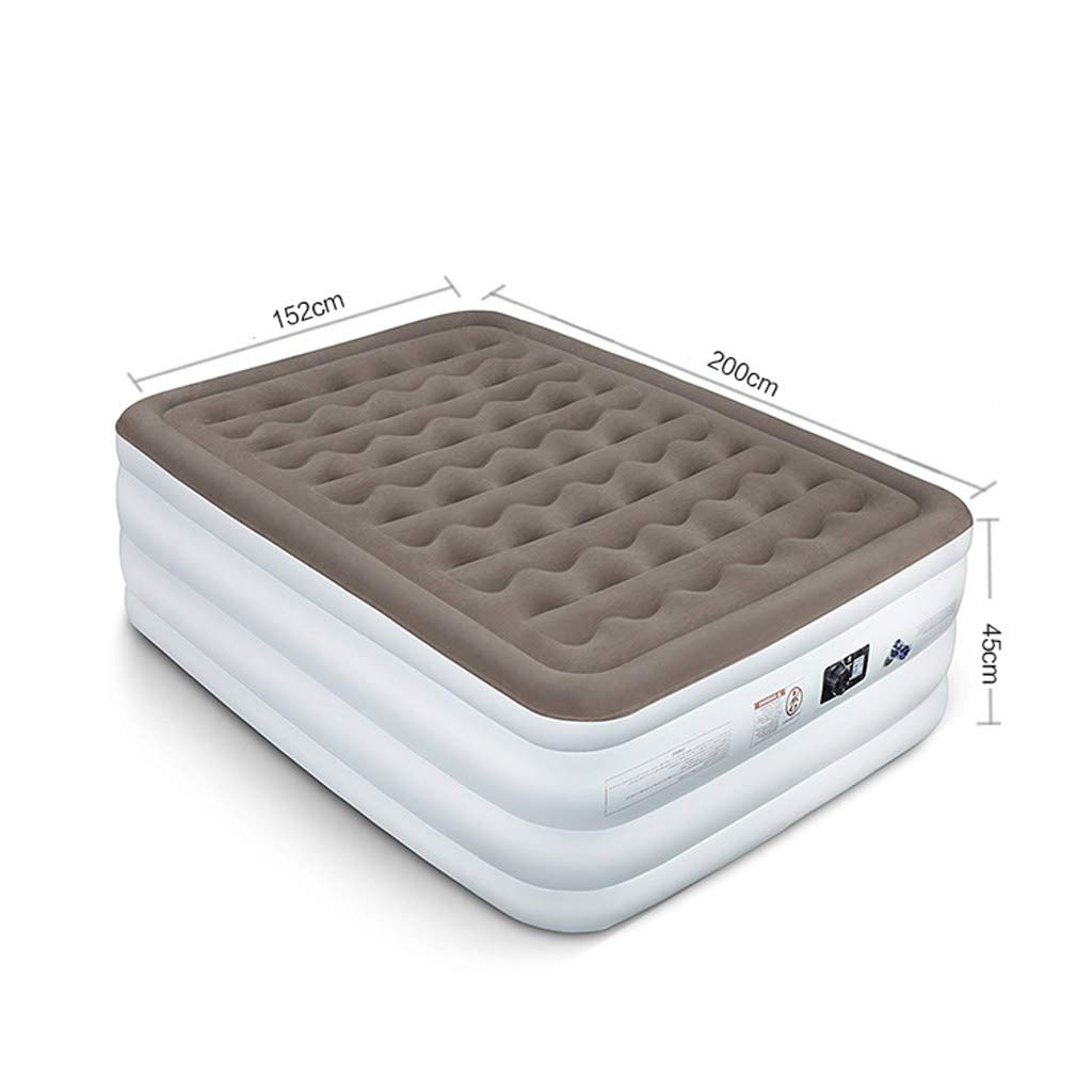 Lilongjiao Inflatable Bed Air Bed Inflatable Mattress Home Double Thickening High Double Household High Bed Flocking Air Bed 20015245cm by Lilongjiao (Image #2)